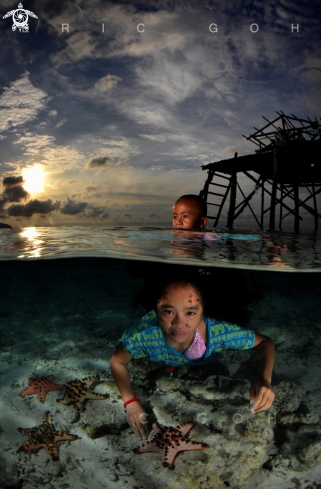 A Bajau Children | Sea Gypsies/ Children of the Sea